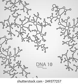 Futuristic DNA eps 10, vector elegant  illustration