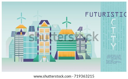 Futuristic Eco City Stock Vector Royalty Free 719363215