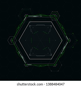Futuristic element for the hud interface.Vector illustration.