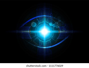 Futuristic eye detection technology concept vector illustration