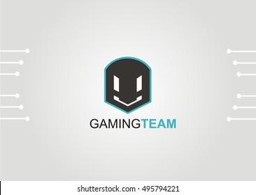 futuristic game logo