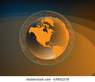 Futuristic global interface technology science abstract background graphics.