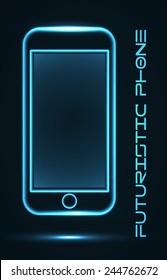 futuristic golographic phone