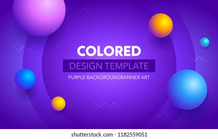 Futuristic gradient geometric background. Liquid color wallpaper design. Banner design template.Colorful   motion background design