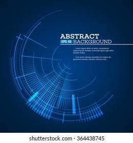 Futuristic graphic user interface. Vector illustration EPS10
