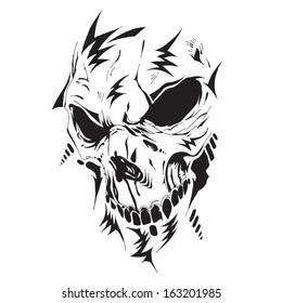 Futuristic hi-tech vector skull