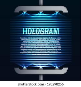 futuristic hologram