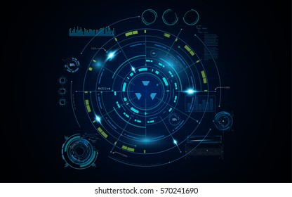 futuristic hud digital hi tech sci fi concept background