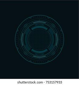 Futuristic Infographic / Vector Sci-Fi Interface