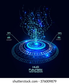 Futuristic interface, HUD,  sci-fi vector background