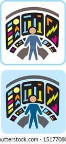 Futuristic laboratory Icon