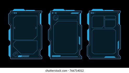 Futuristic Menu User Interface