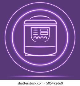 Futuristic Neon Glowing Shaver Icon Sensor style. Vector EPS10