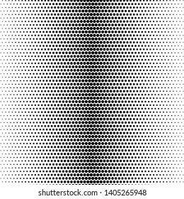 Futuristic panel. Grunge dotted backdrop with circles, dots, point. Abstract monochrome halftone pattern. Design element for web banners, posters, cards, wallpapers, sites. Black and white color
