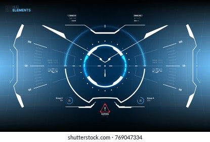 Futuristic Screen HUD Concept. Sci-Fi Technology Design