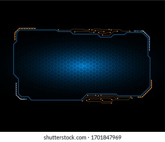 futuristic screen system circuit virtual design