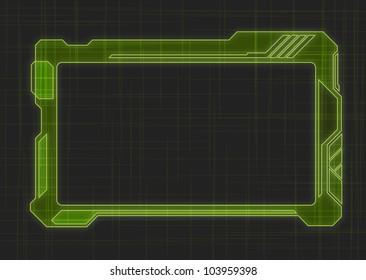 Futuristic Screen Tablet Device