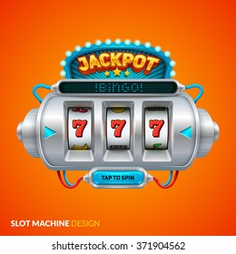 Futuristic slot machine illustration