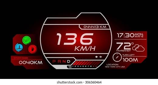 Futuristic Speedometer Interface