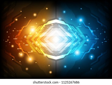 Futuristic structure of light core with contrast tone, Technology abstract, sci-fi and futuristic concept, Vector illustration background.