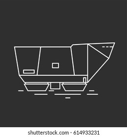 Futuristic tank. Vector illustrations