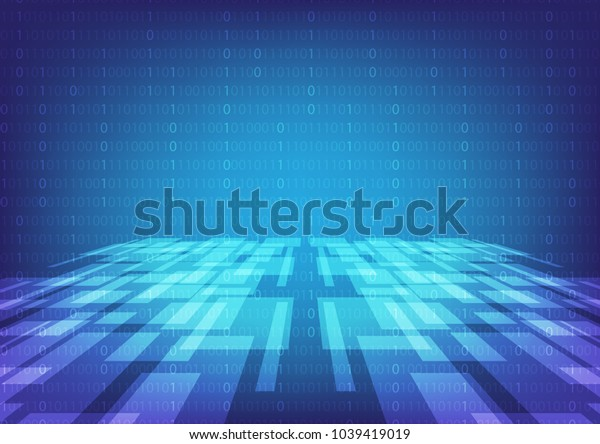 Futuristic technology abstract background with innovation concept, Vector illustration, Space for custom to put a message.