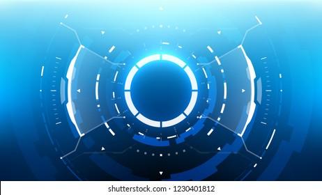 Futuristic Technology Abstract Background. Vector Modern Hi-Tech Wallpaper
