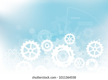 Futuristic technology background, Digital technology and engineering concept. Vector illustration.