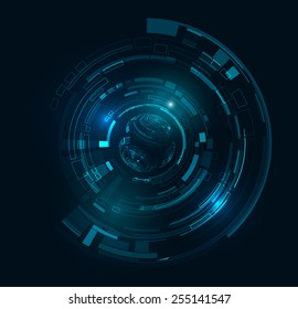 Futuristic technology HUD vector background. Eps10.