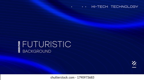 Futuristic technology lines background with light effect. Abstract design template for brochures, flyers, magazine, business card, branding, banners, headers, book covers, notebooks background vector
