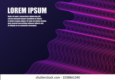 Futuristic Template Design Background. Modern Abstract 3D Line Geometric Gradients for Presentation, Magazines, Flyers, Placards, Posters, Banners and Business Cards. Vector EPS 10