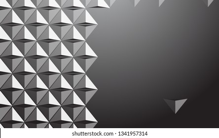 Futuristic triangle background, simply triangle 3d , color gradient, vector-Vector