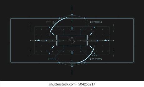 Futuristic user interface. Element user interface. HUD. hi-tech main. Blue elements