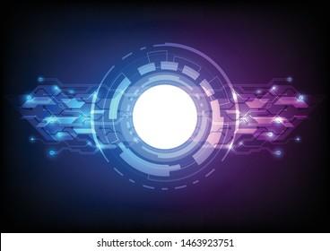 Futuristic User Interface HUD, colorful arc reactor