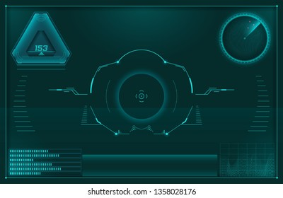 Futuristic user interface HUD.Set of vector elements for your design.