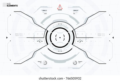 Futuristic User Interface Screen Design. Science Fiction Technology HUD Display