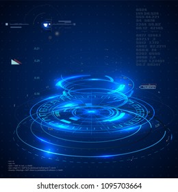 futuristic user interfaces, HUD for app and web. Abstract vector illustration futuristic concept.