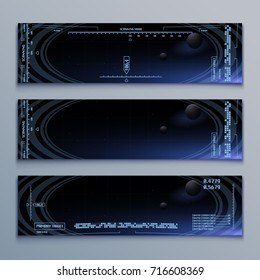 Futuristic vector computer background for space video game (eps 10)
