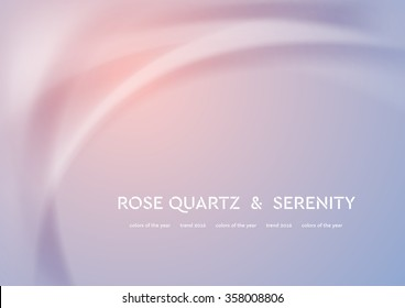 Futuristic vector illustration with smooth waves. Trend colors of the year 2016 rose quartz and serenity. Modern curves background