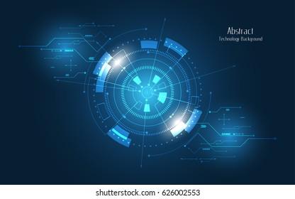 Futuristuc abstract background circle sci fi technology innovation concept