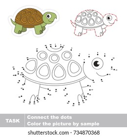 Fuuny Turtle. Dot to dot educational game for kids.