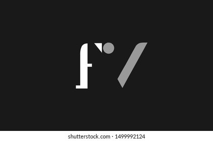 FV Letter Logo Design with Creative Modern Trendy Typography