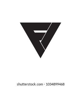 FV letter logo or FI letter logo vector