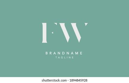 FW Alphabet initial Letter Monogram Icon Logo vector illustration