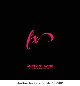 FX Initial handwriting logo vector