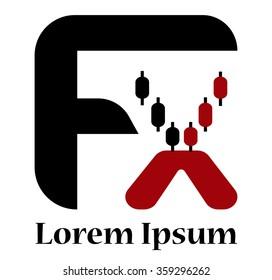 FX letter forex logo.