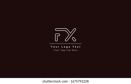 FX or XF letter logo. Unique attractive creative modern initial FX XF F X initial based letter icon logo