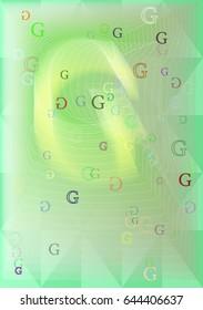 G Alphabet art vector