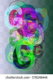 G Alphabet background design