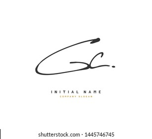G C GC Beauty vector initial logo, handwriting logo of initial signature, wedding, fashion, jewerly, boutique, floral and botanical with creative template for any company or business.